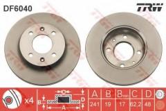 Комплект тормозных дисков TRW DF6040 (2 шт.)