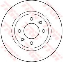 Комплект тормозных дисков TRW DF6116 (2 шт.)