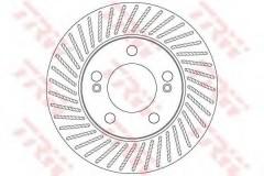 Фото 1 - Комплект тормозных дисков TRW DF6205 (2 шт.)