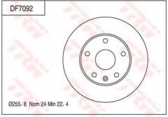 Комплект тормозных дисков TRW DF7092 (2 шт.)