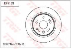 Комплект тормозных дисков TRW DF7163 (2 шт.)