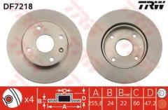 Комплект тормозных дисков TRW DF7218 (2 шт.)
