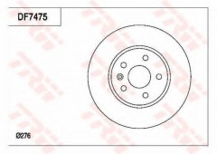 Комплект тормозных дисков TRW DF7475 (2 шт.)