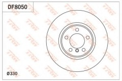Комплект тормозных дисков TRW DF8050 (2 шт.)