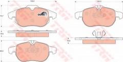 Тормозные колодки TRW GDB1613, дисковые