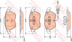 Тормозные колодки TRW GDB1807, дисковые