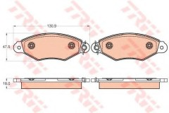 Тормозные колодки TRW GDB2024, дисковые