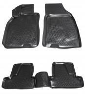 Коврики в салон для Renault Megane '08-16 полиуретановые, черные (L.Locker)