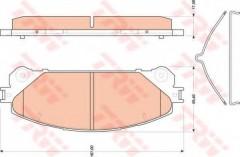 Тормозные колодки TRW GDB3484, дисковые