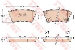 Тормозные колодки TRW GDB3537, дисковые