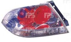 Фонарь задний для Mitsubishi Lancer 9 '04-09 левый (DEPO) красно-белый, прозрачный