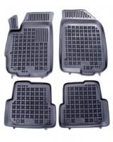 Коврики в салон для Chevrolet Aveo '11- резиновые, черные (Rezawplast)