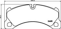 Тормозные колодки TEXTAR 2468501, дисковые