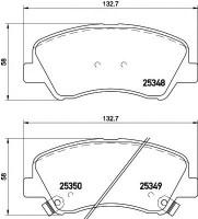 Тормозные колодки TEXTAR 2534801, дисковые