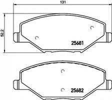 Тормозные колодки TEXTAR 2568101, дисковые