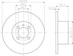 Комплект тормозных дисков TEXTAR 92011600 (2 шт.)