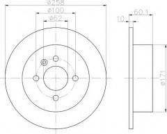Комплект тормозных дисков TEXTAR 92019200 (2 шт.)