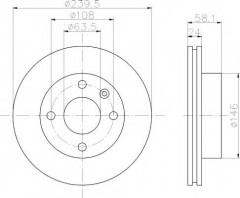 Комплект тормозных дисков TEXTAR 92022900 (2 шт.)