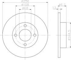 Комплект тормозных дисков TEXTAR 92025900 (2 шт.)