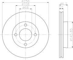Комплект тормозных дисков TEXTAR 92026000 (2 шт.)
