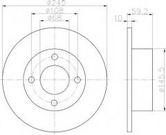 Комплект тормозных дисков TEXTAR 92026100 (2 шт.)