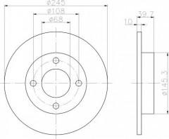 Комплект тормозных дисков TEXTAR 92026300 (2 шт.)