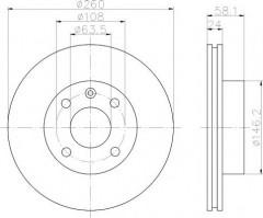 Комплект тормозных дисков TEXTAR 92027300 (2 шт.)