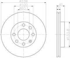 Комплект тормозных дисков TEXTAR 92029603 (2 шт.)