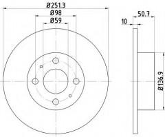 Комплект тормозных дисков TEXTAR 92034203 (2 шт.)