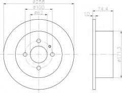 Комплект тормозных дисков TEXTAR 92038400 (2 шт.)