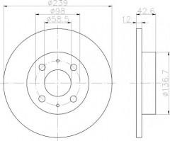 Комплект тормозных дисков TEXTAR 92039100 (2 шт.)