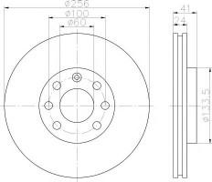 Комплект тормозных дисков TEXTAR 92039203 (2 шт.)