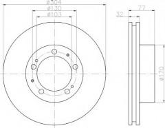 Комплект тормозных дисков TEXTAR 92039800 (2 шт.)