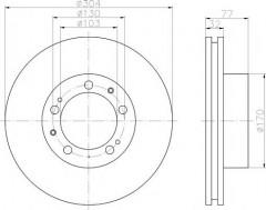Комплект тормозных дисков TEXTAR 92039900 (2 шт.)
