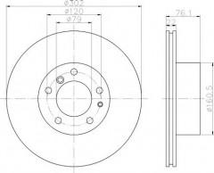 Комплект тормозных дисков TEXTAR 92042203 (2 шт.)