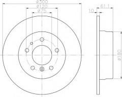 Комплект тормозных дисков TEXTAR 92042303 (2 шт.)