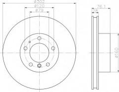 Комплект тормозных дисков TEXTAR 92042400 (2 шт.)