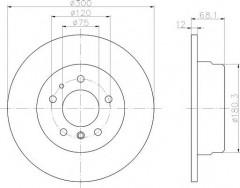 Комплект тормозных дисков TEXTAR 92042500 (2 шт.)