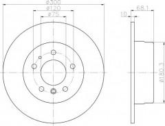 Комплект тормозных дисков TEXTAR 92042600 (2 шт.)