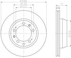Комплект тормозных дисков TEXTAR 92043300 (2 шт.)