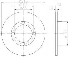 Комплект тормозных дисков TEXTAR 92043800 (2 шт.)