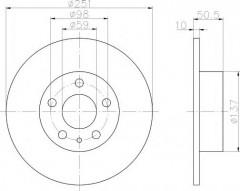 Комплект тормозных дисков TEXTAR 92046903 (2 шт.)