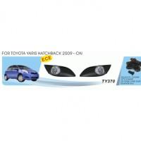 Противотуманные фары для Toyota Yaris '09-10 комплект (Dlaa) хетчбек