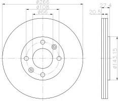 Комплект тормозных дисков TEXTAR 92048103 (2 шт.)
