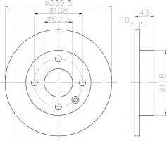 Комплект тормозных дисков TEXTAR 92050900 (2 шт.)