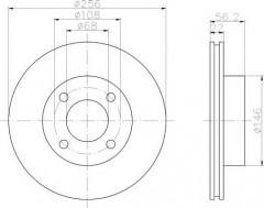 Комплект тормозных дисков TEXTAR 92054200 (2 шт.)