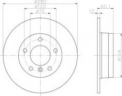 Комплект тормозных дисков TEXTAR 92055703 (2 шт.)