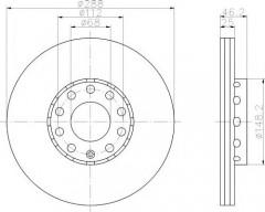 Комплект тормозных дисков TEXTAR 92057605 (2 шт.)