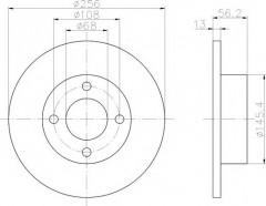 Комплект тормозных дисков TEXTAR 92057800 (2 шт.)