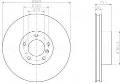 Комплект тормозных дисков TEXTAR 92058300 (2 шт.)